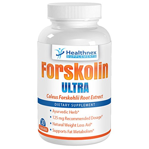 Forskolin Ultra - Coleus Forskohlii Root - 125Mg Capsules - This Is The Recommended Daily Intake - Forskolin Fat Burner Extract - 30 Day Supply - Full