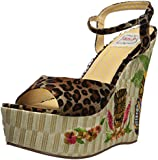 Bettie Page Women's BP475-Keke Wedge Sandal