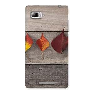 Cute Leaves on Wood Back Case Cover for Lenovo Vibe Z K910