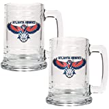 NBA Los Angeles Clippers Two Piece 15-Ounce Glass Tankard Set - Primary Logo