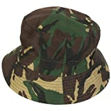 Reversible Boonie Bush Jungle Sun Hat British DPM Camo Olive Green