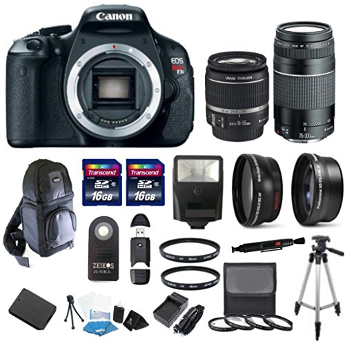 Canon Eos T3I 18Mp Cmos Aps-C Sensor Digital Slr Full Hd Movie Camera With 4Pc (+1,+2,+4,+10) Macro Close Up Kit With Canon Ef-S 18-55Mm F/3.5-5.6 Is Ii Lens + Canon Ef 75-300Mm F/4-5.6 Iii Telephoto Zoom Lens + 58Mm 2.2X Professional Telephoto Lens + 58M