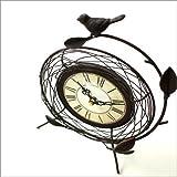 置き時計 レトロ おしゃれ アナログ インテリア アンティークな置時計 B [kwb1703]