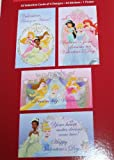 Disney Princess Valentine Cards and Stickers