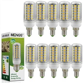 10X MENGS® E14 7W LED lampe Glühbirne Mais Licht (Warmweiß
