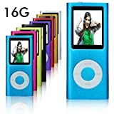 L.D Generation 16GB Ultra Slim Small 1.78'' Screen MP3 Player / MP4 Player Media/Music/Audio Player Video Photo Player & Voice Recorder (Blue)