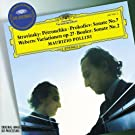 Stravinsky: Three mouvements from Petrushka; Prokofiev: Piano Sonata 7; Webern: Piano Variations; Boulez: Piano Sonata 2