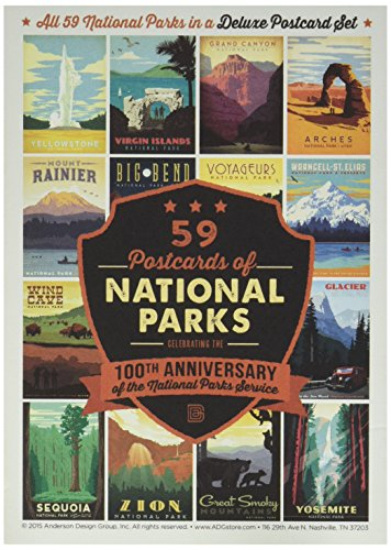59-piece Deluxe National Parks Postcard Set (Postcard Frame compare prices)