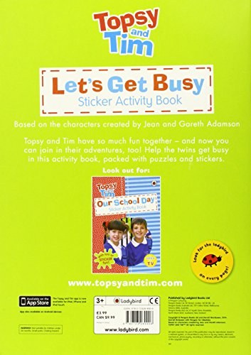 Let's Get Busy!: A Ladybird Topsy and Tim sticker activity book (Topsy & Tim Sticker Activity)