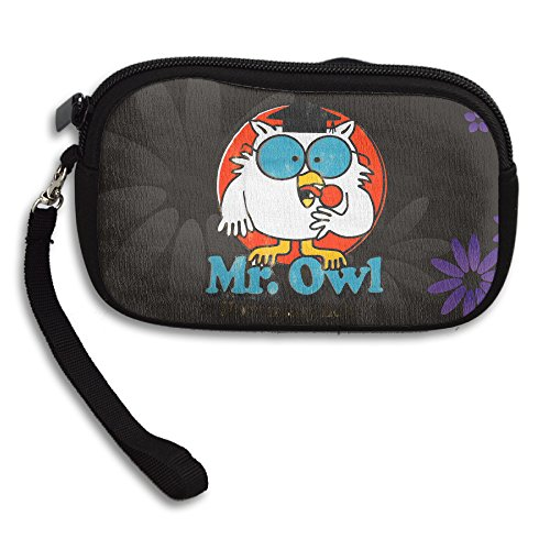 LALFOUNEE Zippered Mr. Owl Women's Coin Purse Coin Pouch For Shopping Supermarket Walking Pet (Tootsie Roll Owl Costume)
