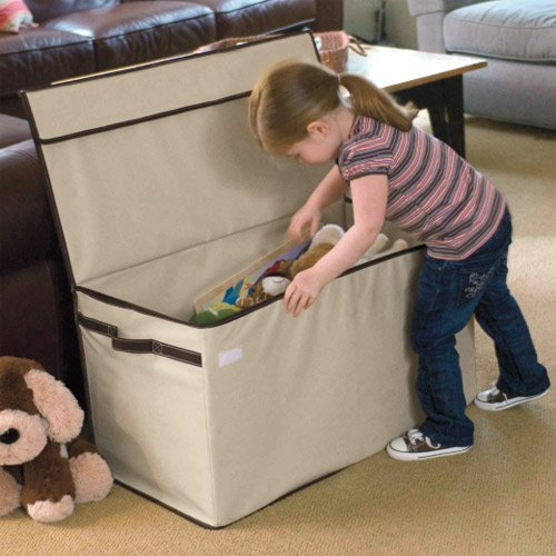 personalized large collapsible toy box. Black Bedroom Furniture Sets. Home Design Ideas