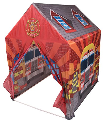 Kids Fire Station Indoor and Outdoor Play Tent - Fire Truck and Fire House (Fire Truck Bed Tent compare prices)