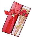 【kshop】 ソープフラワー 父の日 母の日 誕生日 等 お祝い 時の プレゼント に最適 薔薇の花束 【 赤 3本 】