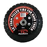 Tooluxe Heavy Duty 10-Inch Hand Truck Tires Wheels, Flat-Free Foam Wheels