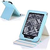 Kindle Paperwhite Funda, MoKo Premium Vertical Flip Cover with Auto Wake / Sleep for Amazon All-New Kindle Paperwhite (Cabe la 2012, 2013 y la Ultima Edición 2015), Azul Claro