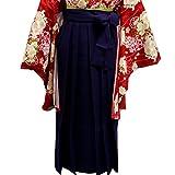 袴 無地 はかま 女性用 4サイズ5色/L(95cm) 紫