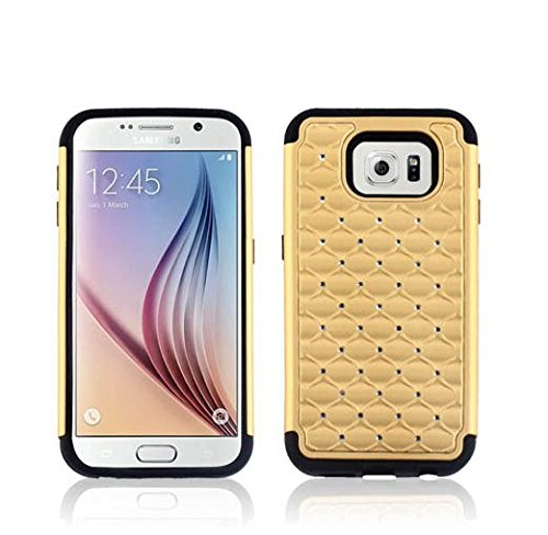 Samsung Galaxy S6 Case,Hard & Soft Hybrid Gel Rhinestone Bling Diamond Armor Defender [ anti scratch ] Case Cover for Samsung Galaxy S6 (2015)【Storm Buy】 del luxury ultra thin armor hard back case cover for samsung galaxy note 8 td905 dropship