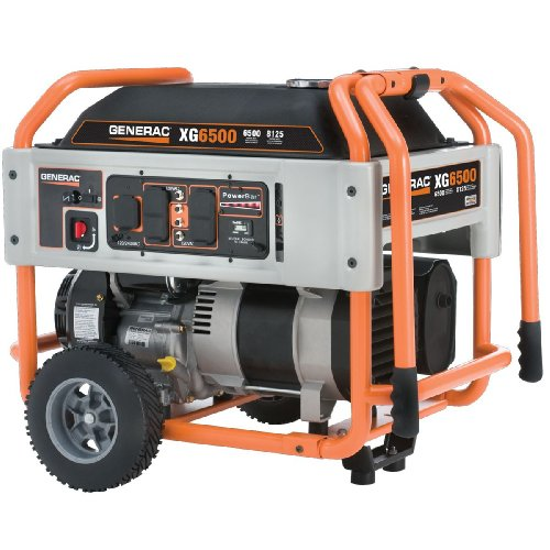 Generac Generac 5796 XG6500 6,500 Watt 410cc OHVI Gas Powered Portable Generator with Wheel Kit