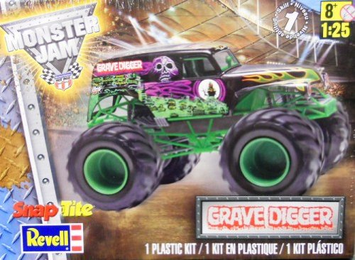 Monster Jam Grave Digger Snap Tite Truck 1/25 Revell