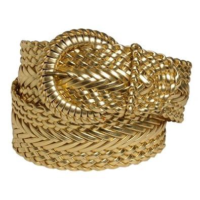 Amazon.com: Ladies Gold Woven / Braided Luxury Designer ...