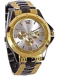 Bollywood Designer Black & Gold Dial Analog Watch For Men
