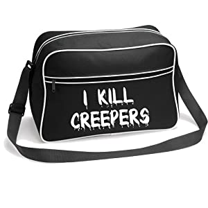 iClobber I Kill Creepers Bag Retro Shoulder Boys School Gamer Zombie Creeper