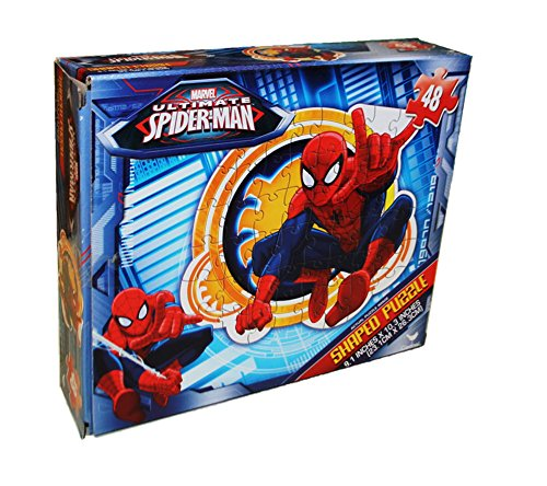 Marvel Ultimate Spiderman 48 Piece Shaped Puzzle - 1