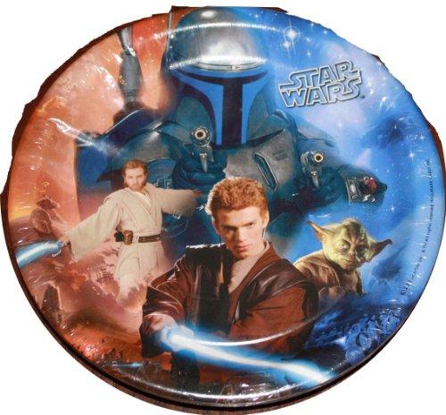 Star Wars 8 3/4 Inch Party Plates - 8 Pack Featuring Obi Wan Kenobi, Boba Fett, Yoda and Anakin Skywalker - 1