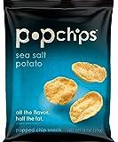 Popchips Potato Chips, Sea Salt, Single Serve 0.8 Ounce (Pack of 24)