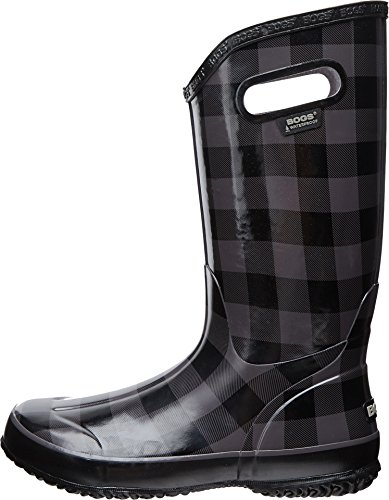 Bogs Women S Buffalo Plaid Rain Boot Black Gray 11 M Us