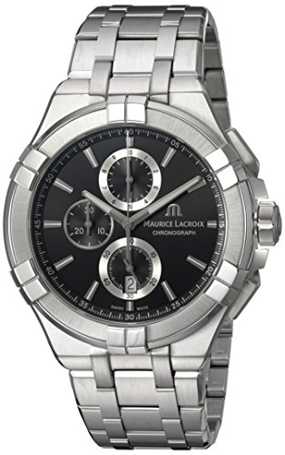 Maurice-Lacroix-Mens-Aikon-Quartz-Stainless-Steel-Casual-Watch-ColorSilver-Toned-Model-AI1018-SS002-330-1