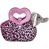 Aurora World Fancy Pals Plush Toy Pet Carrier, Elephant Jungle Love