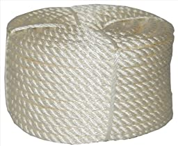 T.W. Evans Cordage 32-055 .625 in. x 100 ft. Twisted Nylon Rope Coilette