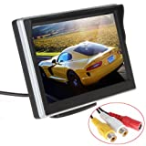 ePathChina 5 inch TFT-LCD High Definition Digital Panel Color Car Rear View Monitor with Front Diaphragm OSD Menu DC 12V LED Backlight Display Vehicle