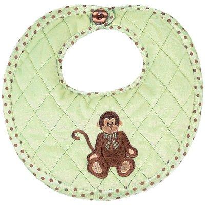Bearington Baby Monkey Bib - 1