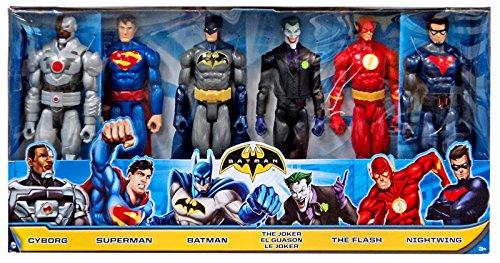 dc-super-heroes-comic-12-mattel-figures-6-pack-batman-superman-joker-flash-nightwing-cyborg
