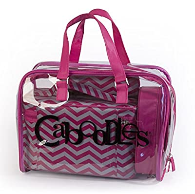 Cheapest Caboodles Le Sophistique 10 Piece Bag Set, Pink Chevron by Caboodles - Free Shipping Available