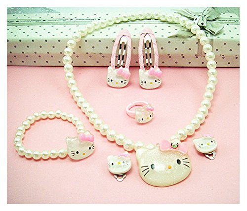 Adorable-Kitty-Faux-Pearl-Girl-Jewelry-7-piece-Set