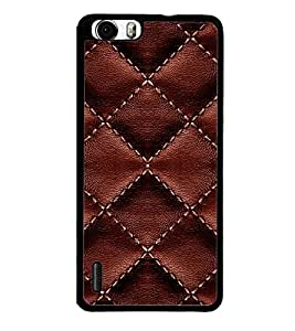 printtech Leather Sew Pattern Back Case Cover for Huawei Honor 6 ,Versions: - H60-L01 TDD LTE (Single SIM) - H60-L02 FDD&TDD LTE, HSDPA - H60-L04 FDD&TDD LTE, HSDPA (Single SIM) - H60-L12 FDD LTE, HSDPA, NFC - H60-L12 FDD LTE, NFC