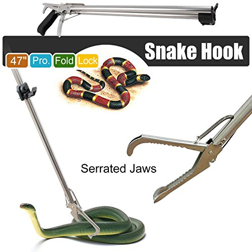 Great Deal! Gotobuy - 47 Professional Collapsible Extra Heavy Duty Reptile Snake Tongs Snake Catche...