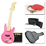 "30"" Kids Pink Electric Guitar with Amp & Much More Guitar Combo Accessory Kit"