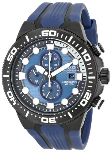 "Citizen Men'S Ca0515-02L Eco-Drive ""Scuba Fin"" Blue And Black Dive Watch"