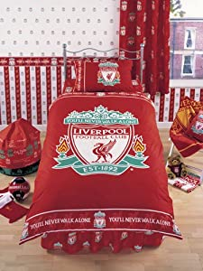 Liverpool Fc Crest Duvet Cover And Pillowcase Kids Bedding by Zap