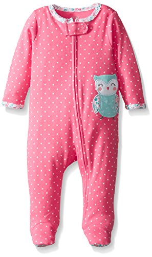 carters-baby-girls-flowery-owl-coverall-coral-6-months
