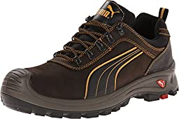 PUMA Safety Men\'s Sierra Nevada Low EH Brown Sneaker 8 W