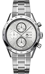TAG Heuer Men s CV2017 BA0794 Carrera Swiss Automatic Silver Dial Watch