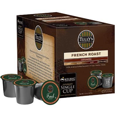 French Roast 108 K-Cups By Tully's Coffee, 108