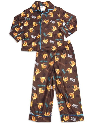 Animal Planet - Little Boys Long Sleeve Grizzly Bear Pajamas, Brown 29955-5 front-945426