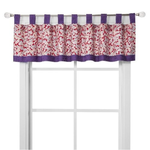 Talula ~ Red & Purple PAISLEY Window Valance 15 x 56 by Trend Labs - 1