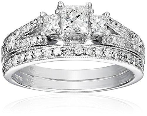 Kobelli-1-18-cttw-Princess-and-Round-Diamond-14k-Gold-Wedding-Ring-Set-Size-45
